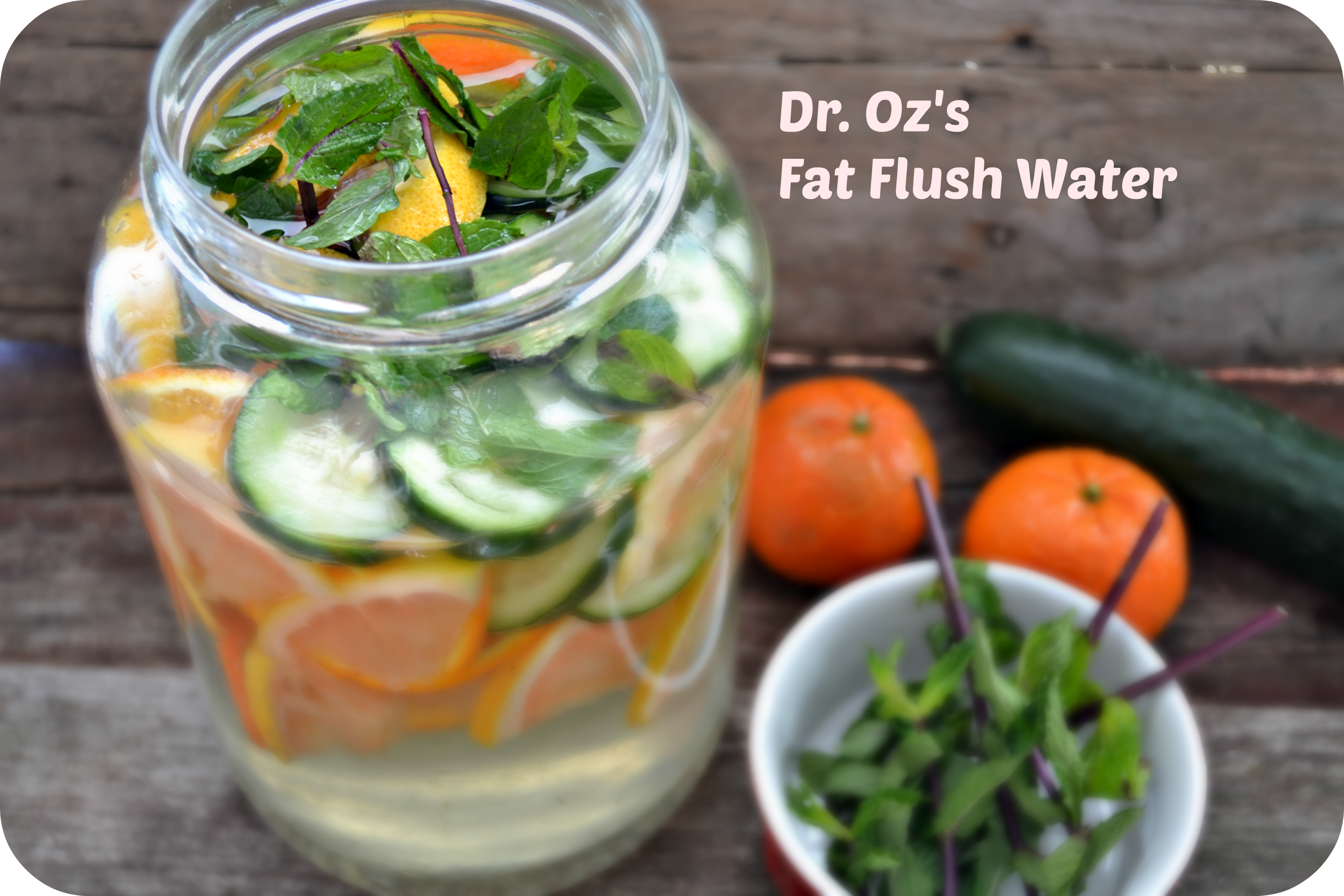 Flat Belly Cucumber And Ginger Water
