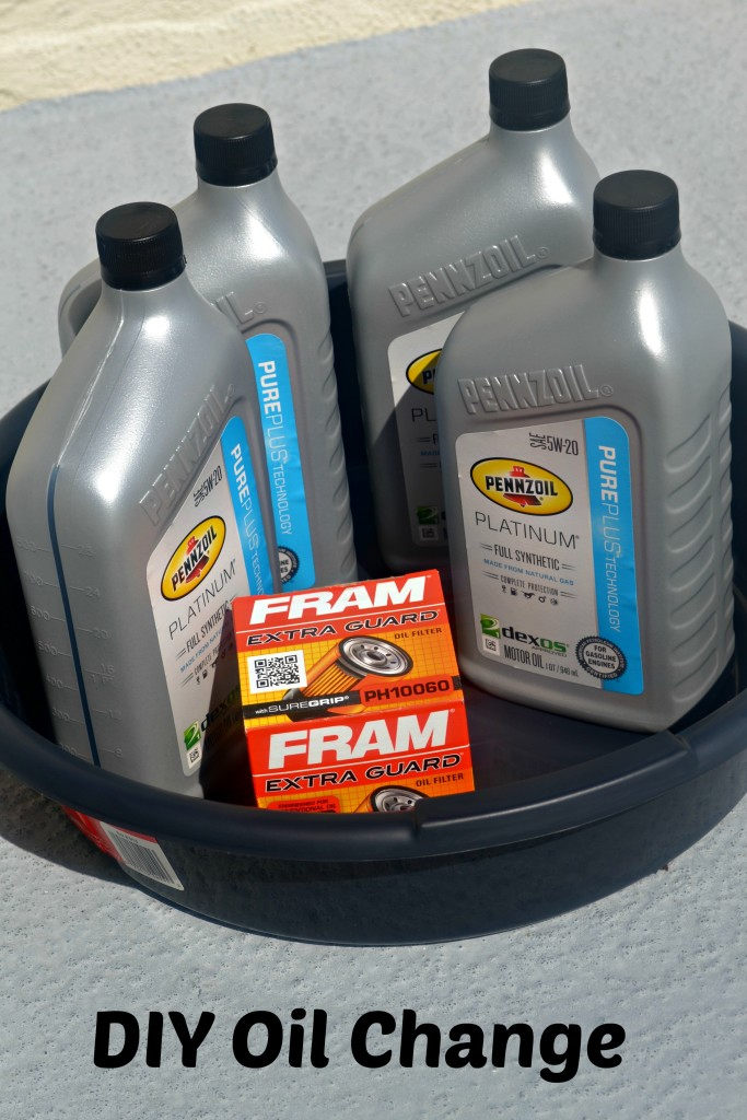 diy pennzoil platinum full synthetic motor oil change